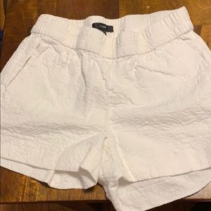 J.Crew Factory embroidered boardwalk shorts white
